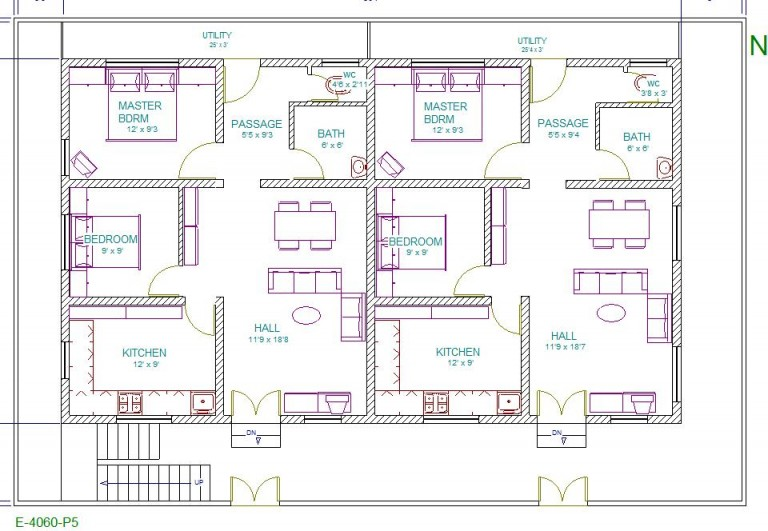 40 Feet By 60 Vastu Home Plans Must See This