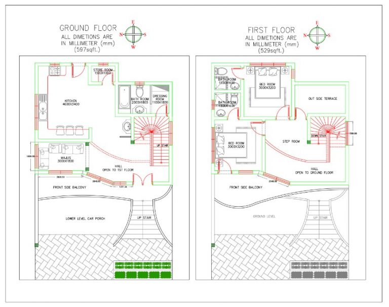 16X50 House Plan 2   Acha Homes