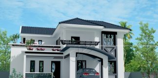 2044 Square Feet Modern Mixed Roof Home Design With.
