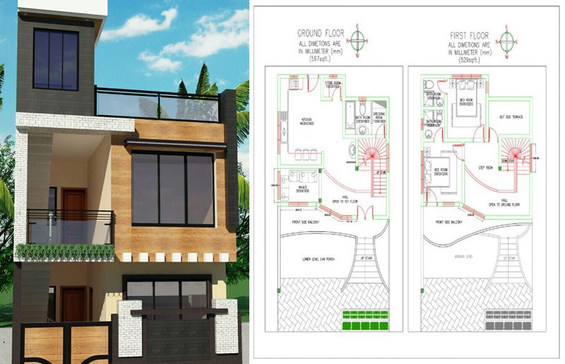 16x50 house plan everyone will like homes in kerala india for 16x50 house plans