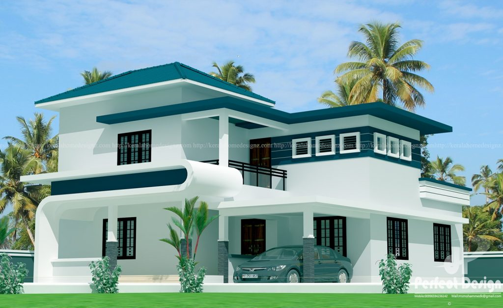 Superb 4 Bedroom Mixed Roof Home Part - 9: 4bhk Bedroom Mixed Roof Home Design Everyone Will Like