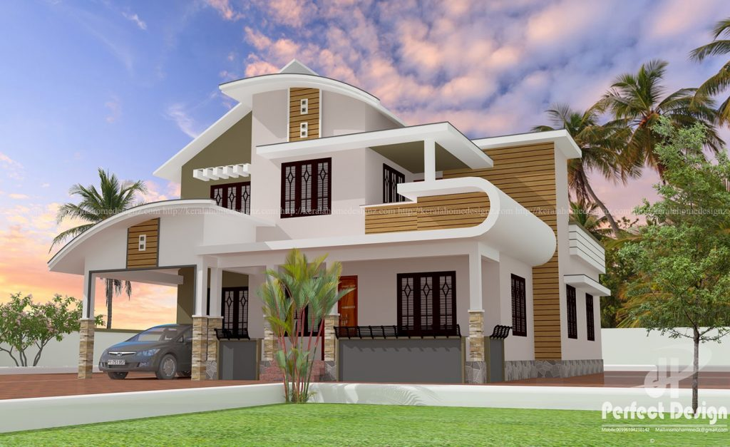 1753 Square Feet Mixed Roof Home Design With 4 Bedrooms Acha Homes