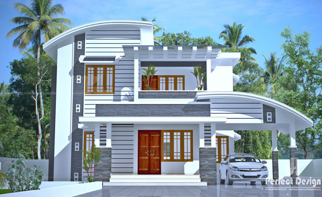 2140 Square Feet Double Floor House In Calicut With 4 Bedrooms