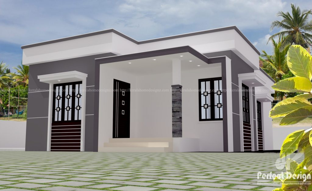968 Square Feet Contemporary Style Home With 2 Bedrooms