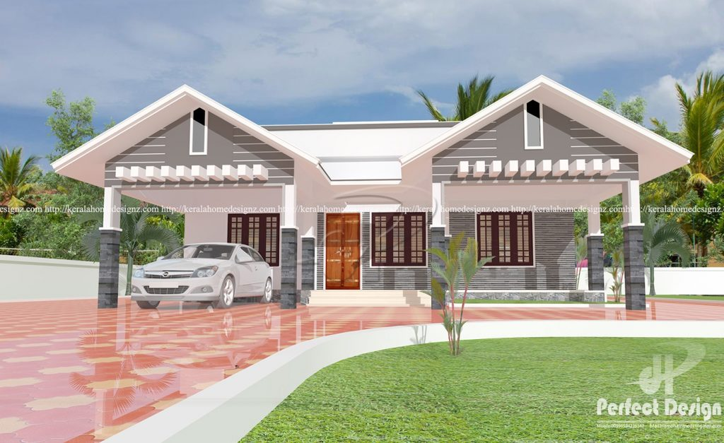 1087 Square Feet Modern Single Floor Home Design