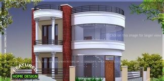 1741 Square Feet Round Home Design With 3 Bedrooms