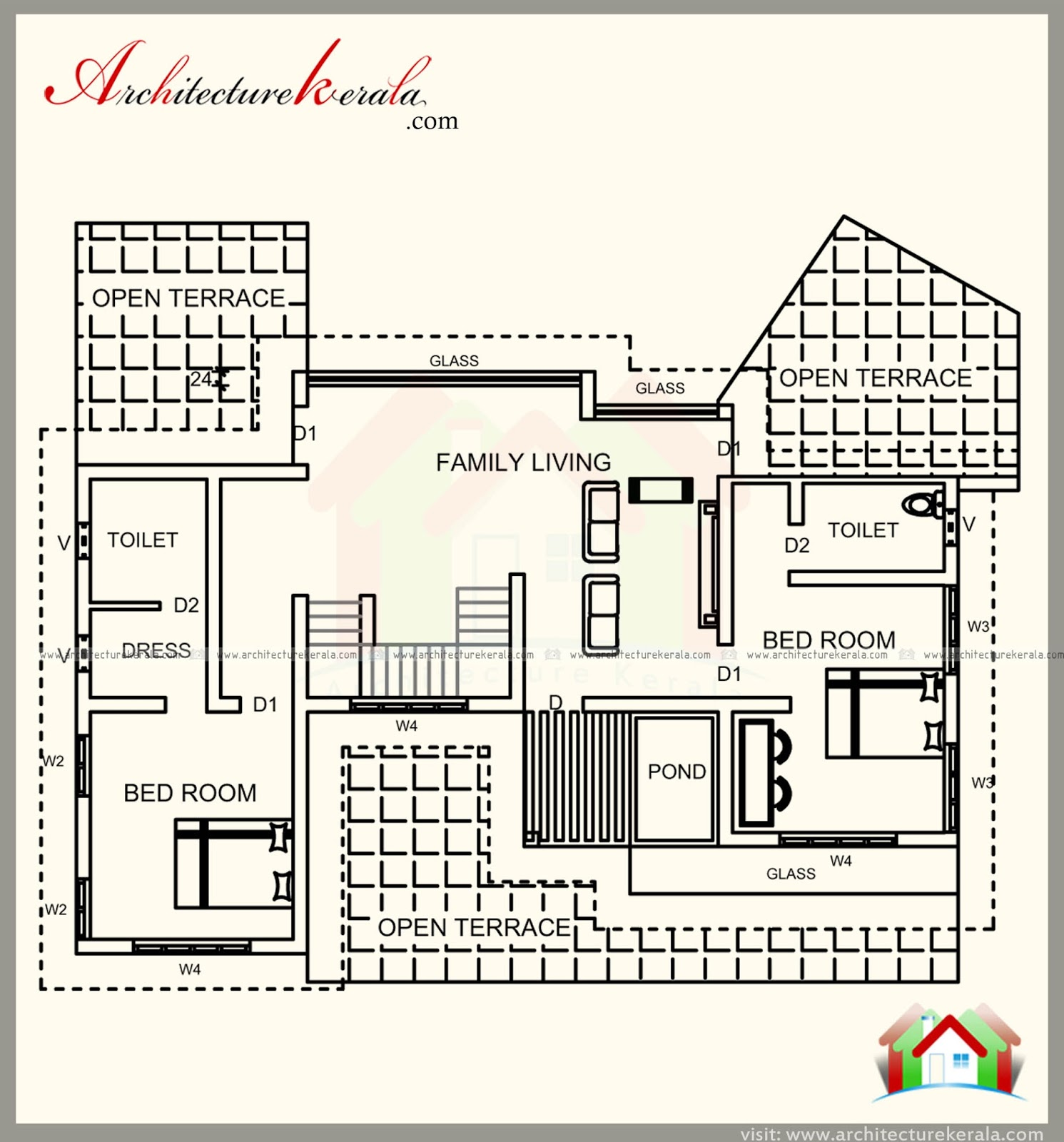 3000 square feet house plan with 5 bedrooms homes in for 3000 sq ft house plans kerala style