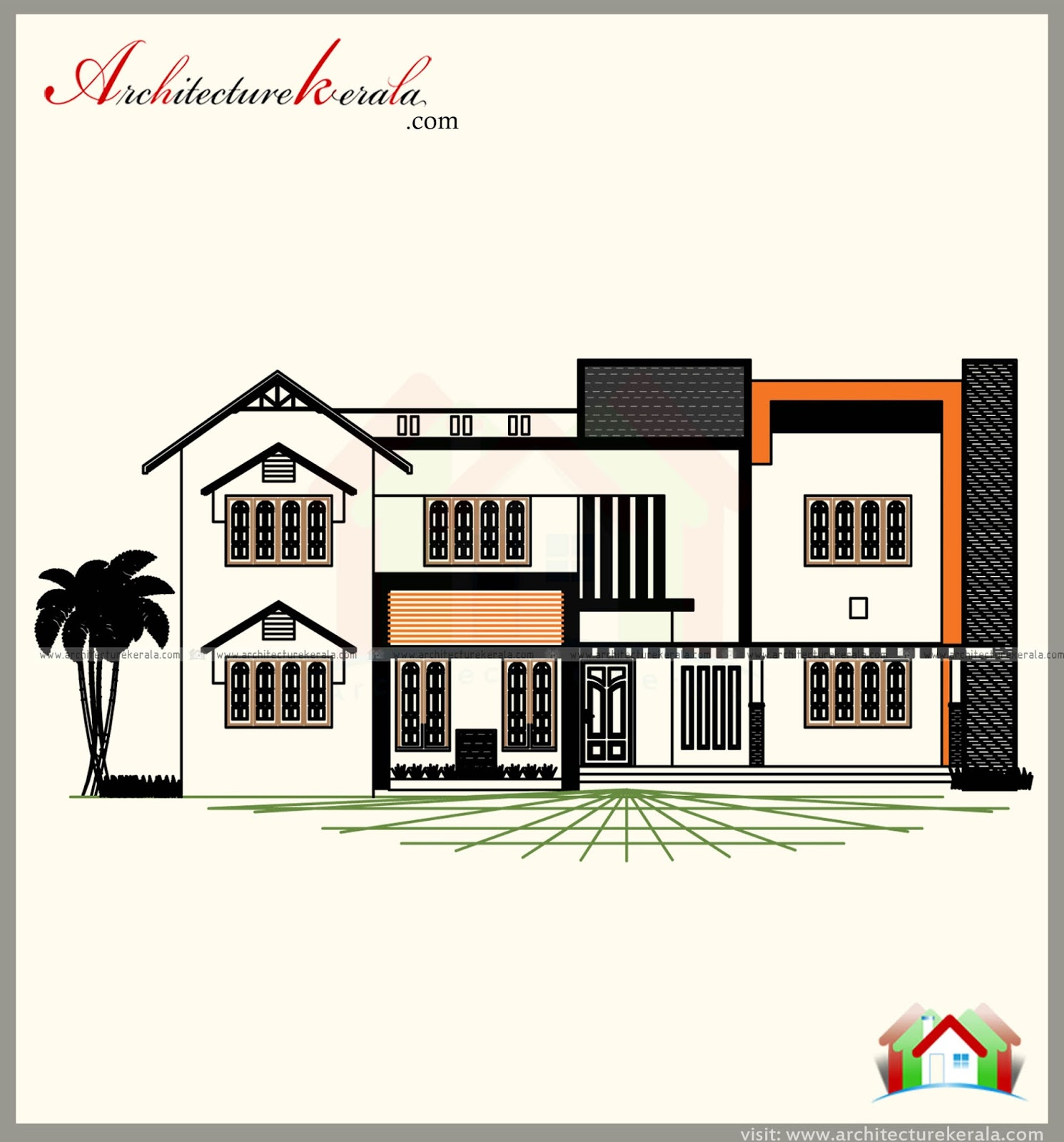 3000 SQUARE FEET HOUSE PLAN WITH 5 Bedrooms   Acha Homes on house plans over 5000 square feet, house plans over 4000 square feet, house plans over 15000 square feet,