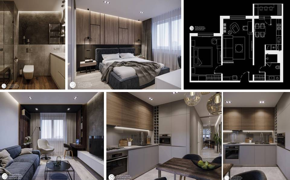 Amazing Interior Apartment Plan With Just 60 Square Meters