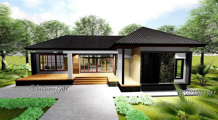stylish house design and plan with three bedrooms and space rh achahomes com