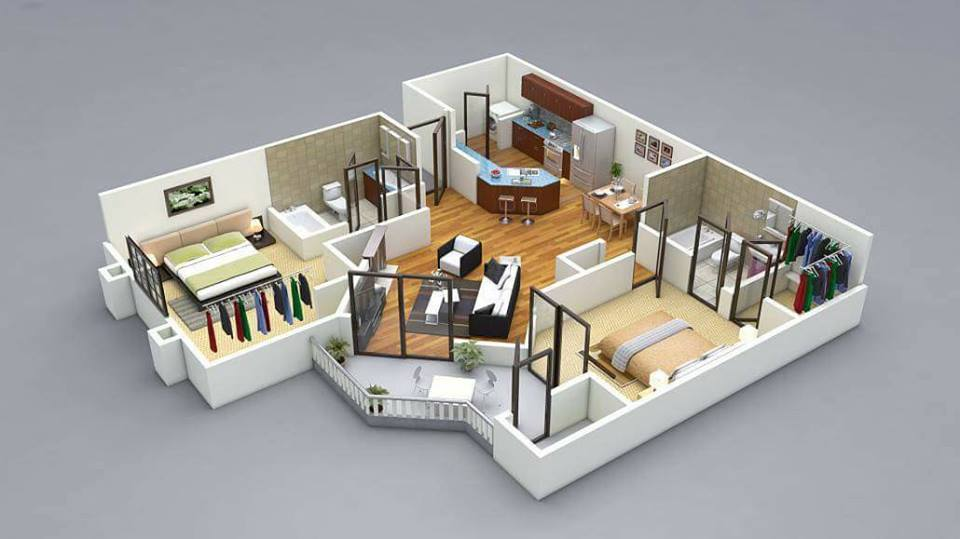 Top 10 Modern 3D Small Home Plans Everyone Will Like | Acha Homes
