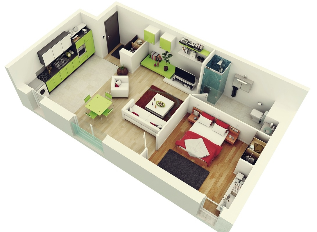 Top 10 Modern 3D Small Home Plans 3 | Homes in kerala, India