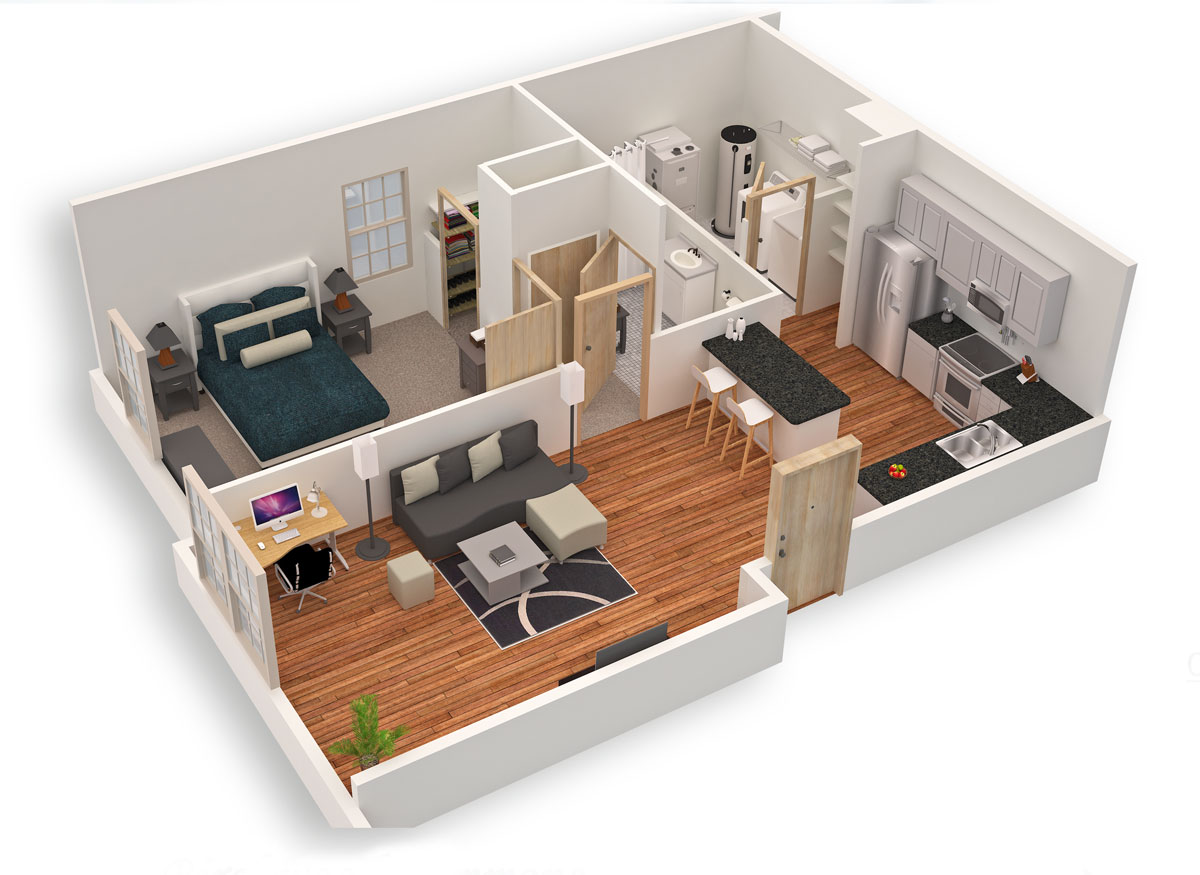 Top 10 Modern 3D Small Home Plans Everyone Will Like ...