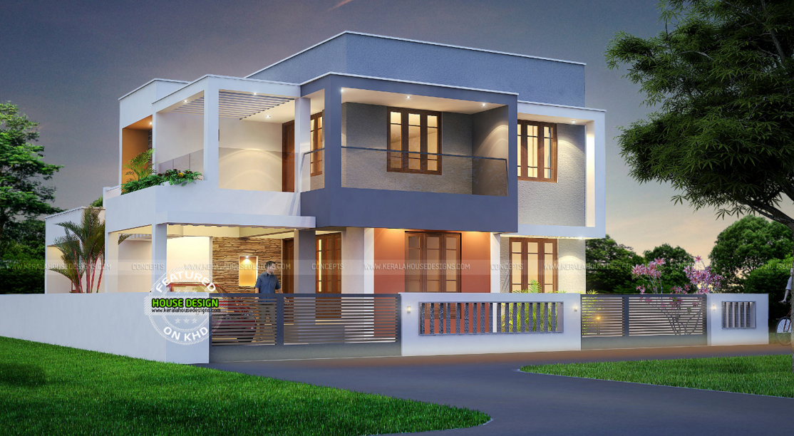 Best contemporary inspired kerala home design plans for Contemporary modern style house plans