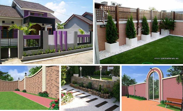 Modern 10 ideas of fences and fences to give security to your ...