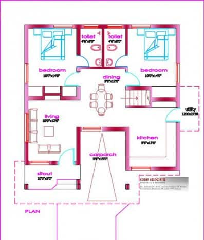 small kerala house plans at 1000 square feet everyone will
