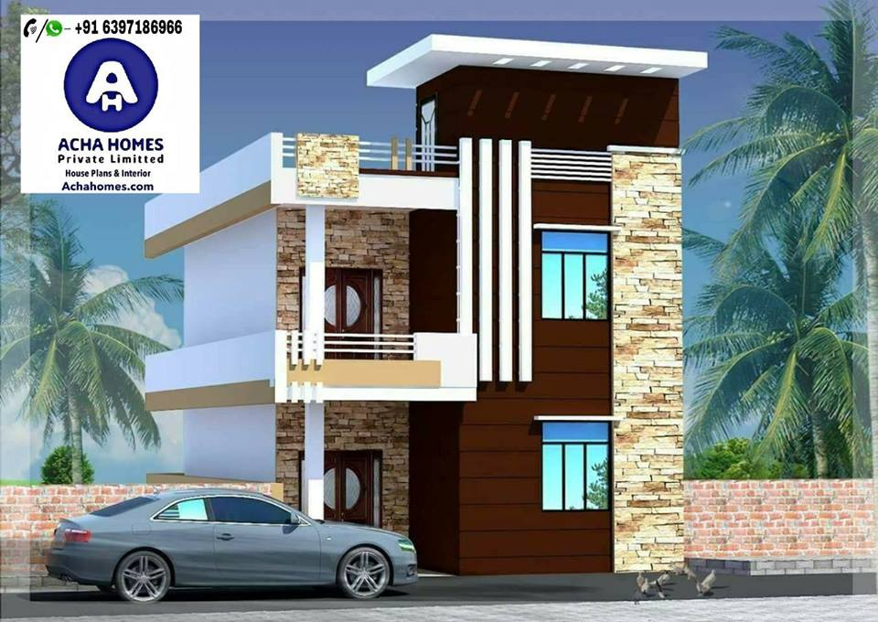 25 feet by 60 modern home plan with 4 bedroom