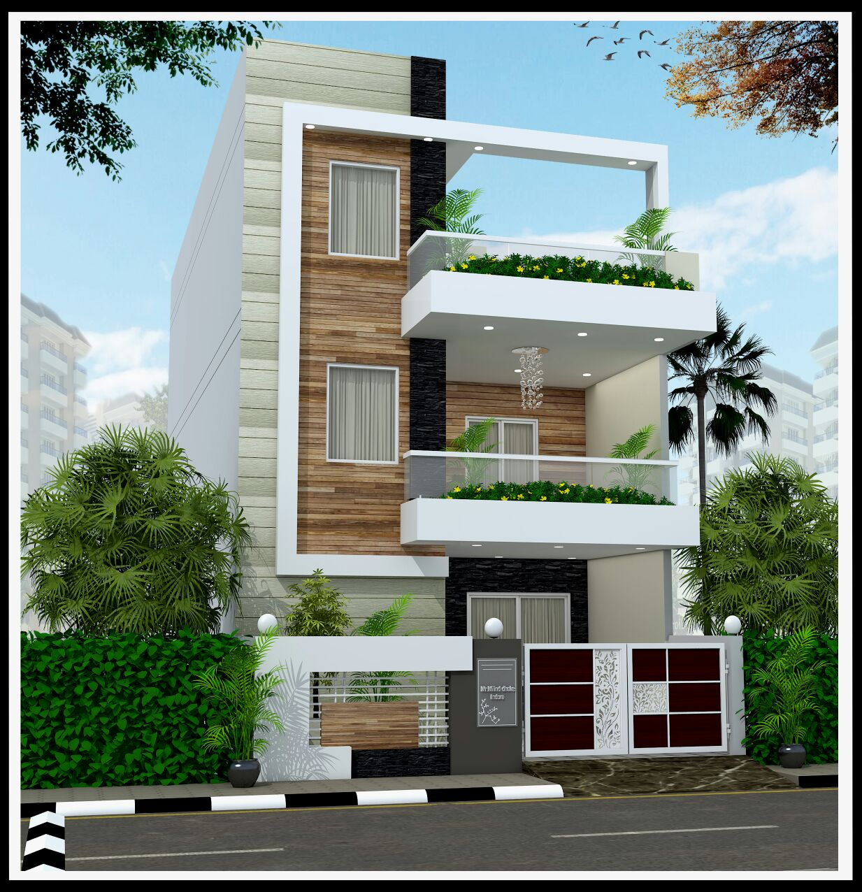 22 Feet By 45 Modern House Plan With 4 Bedrooms Acha Homes