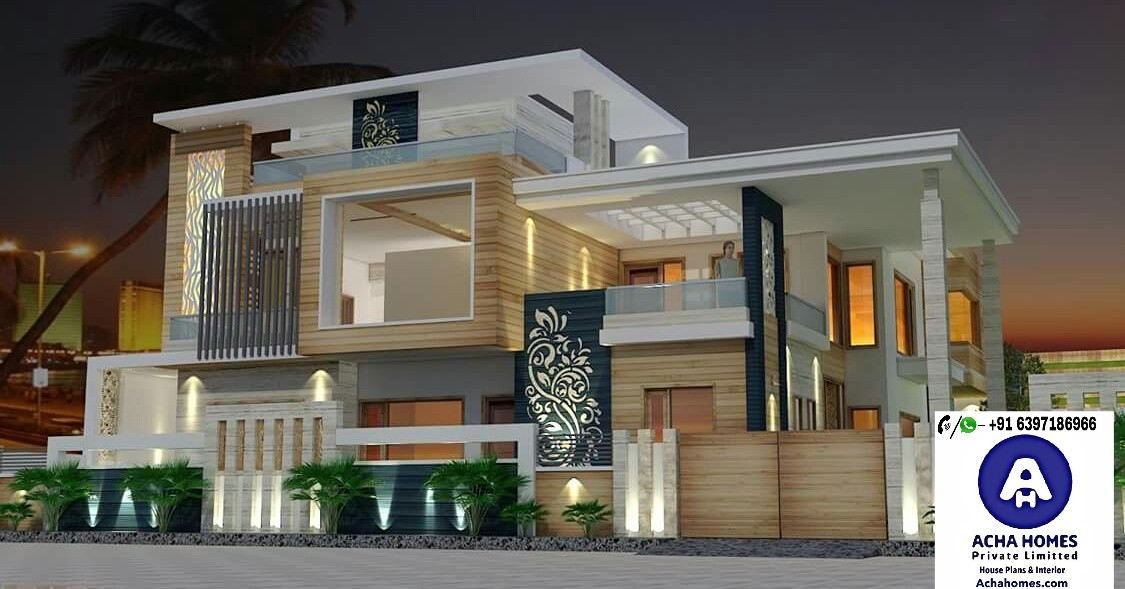 60 Feet By 60 Modern House Plan With 6 Bedrooms Acha Homes