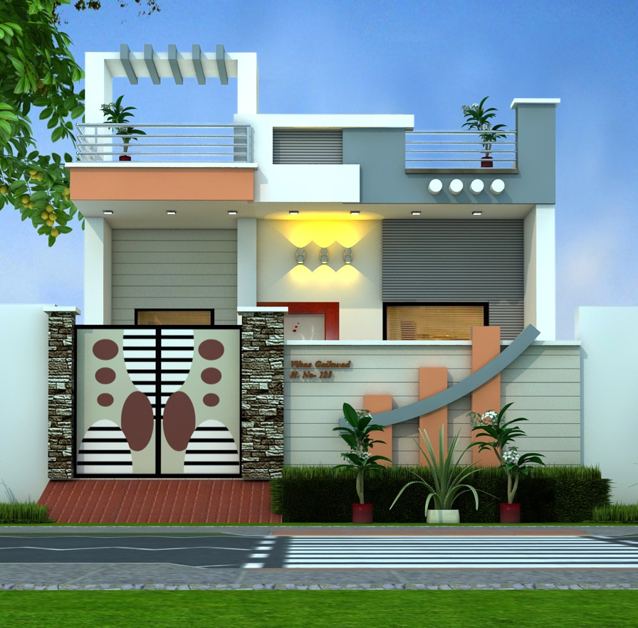 Home Front Design Pictures: A Stunning House Plan In 29 Feet By 46 Feet With 3