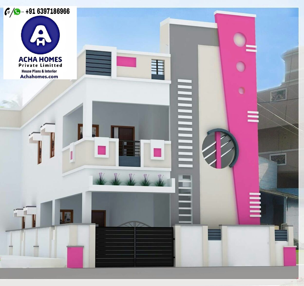 28 feet by 32 modern home design