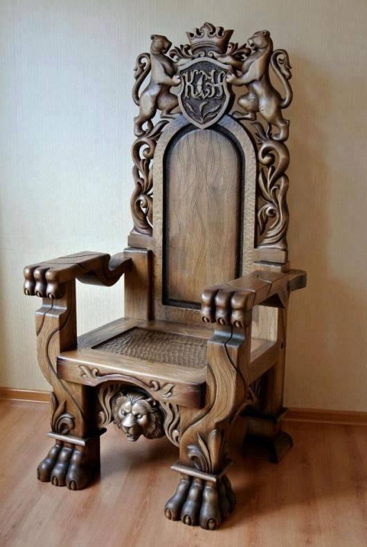 modern handmade wood chair