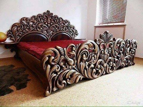 modern handmade wood bed frame
