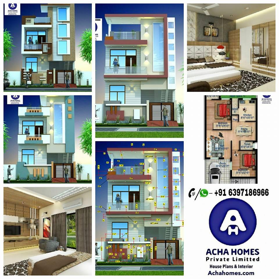 1000 square feet 2 Bhk Modern House Plan