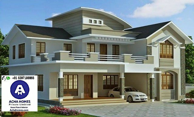 3000 Square Feet 4 BHK double floor contemporary home design