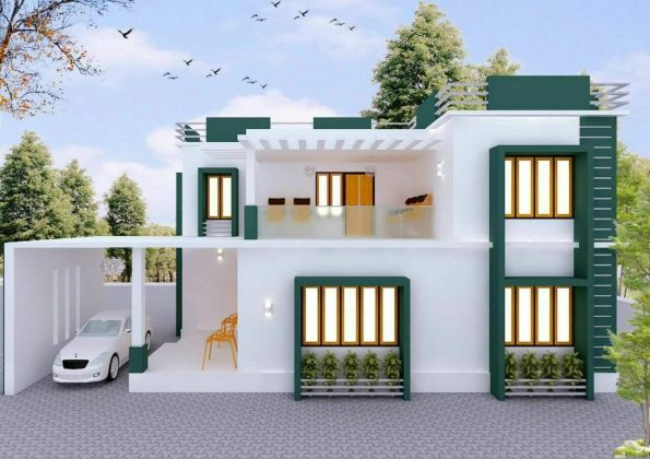 1000 square feet home plan below 15 lakhs