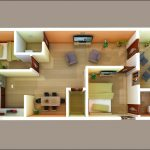 Best 3D Floor Plan with 2 Bedrooms