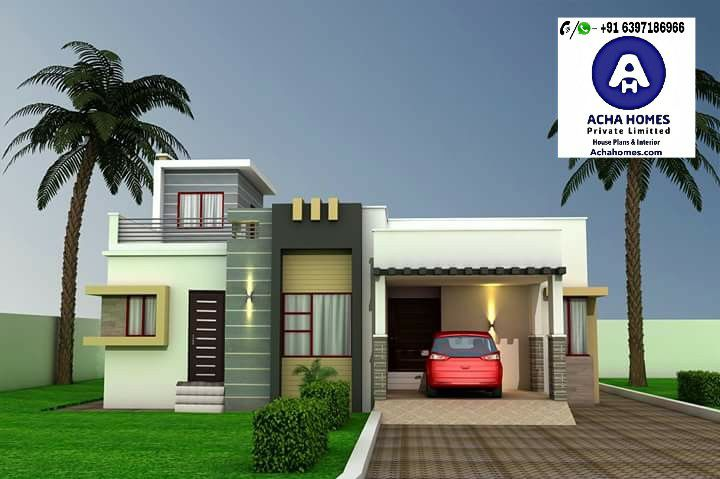 List of 800 Square feet 2 BHK Modern Home Design | Acha Homes