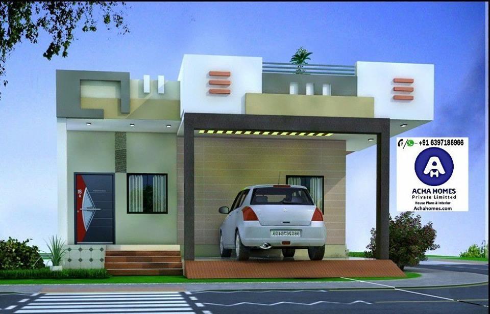 2 Bhk Modern Home Design India 800 Sq Ft Modern Homes