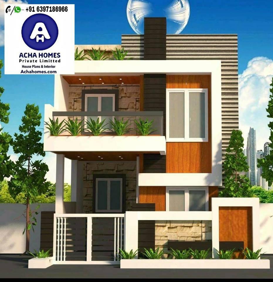 List Of 800 Square Feet 2 BHK Modern Home Design