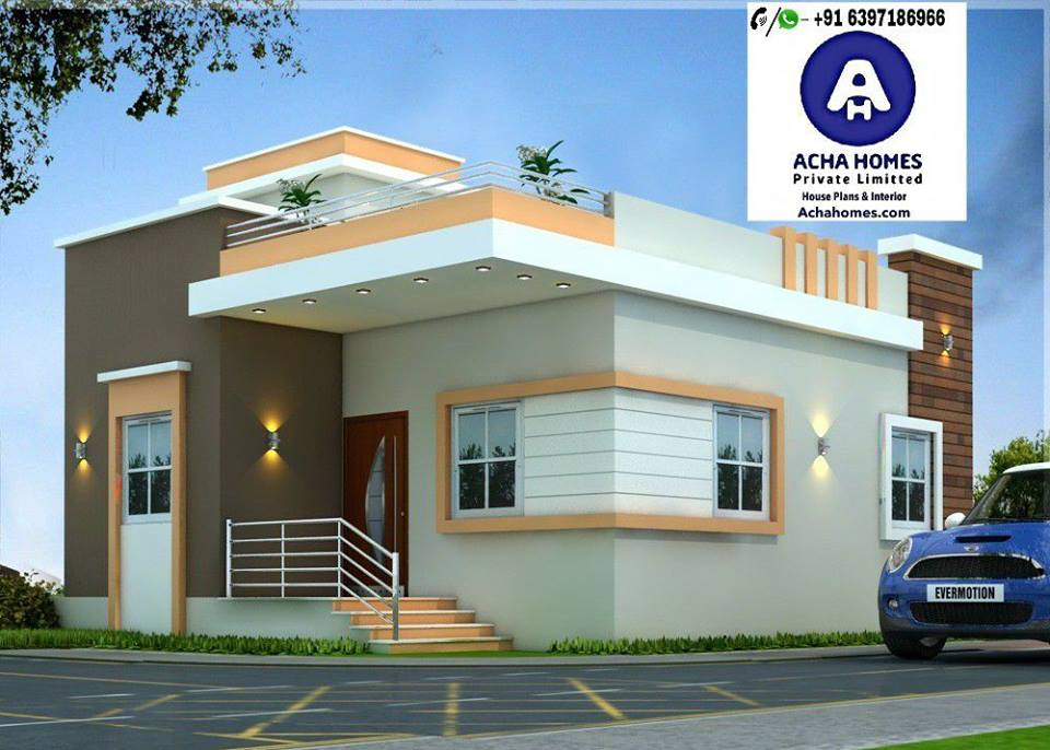 2 BHK Modern Home Design India, 800 Sq Ft Modern Homes
