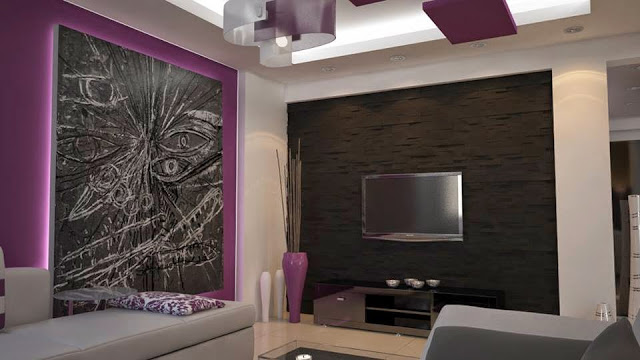 Modern TV room Apartment Interior Decorating Ideas