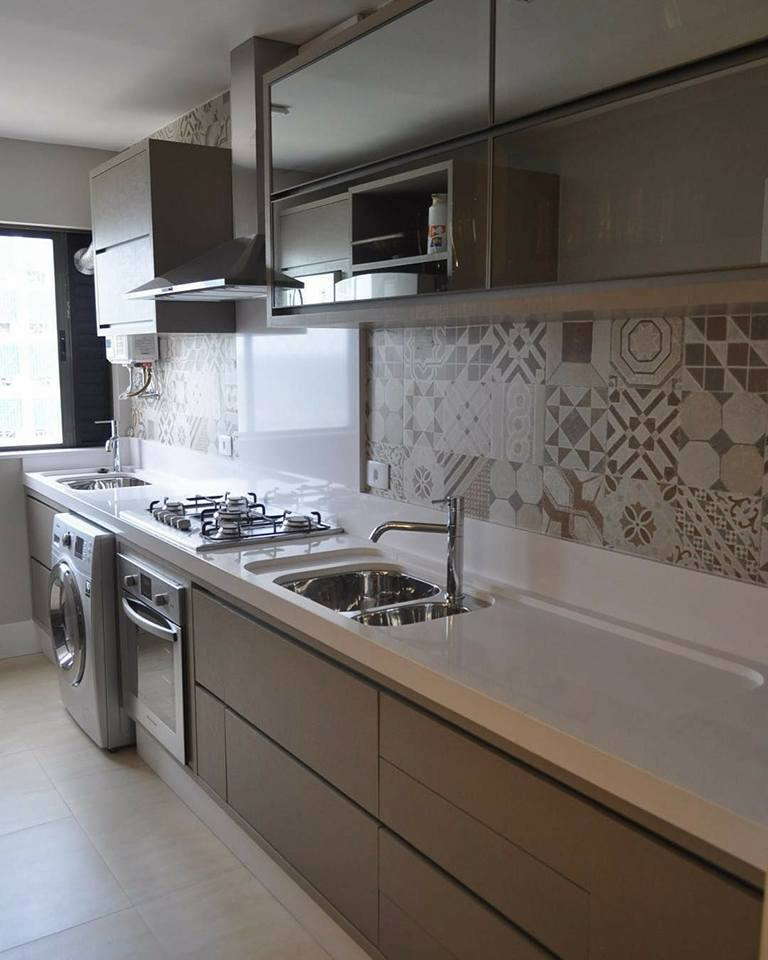 Best Long Narrow wood colour Modern Kitchen Ideas