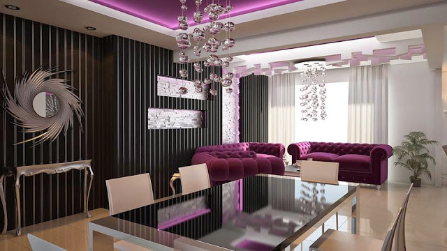 dining and living room Modern Apartment Interior Decorating Ideas