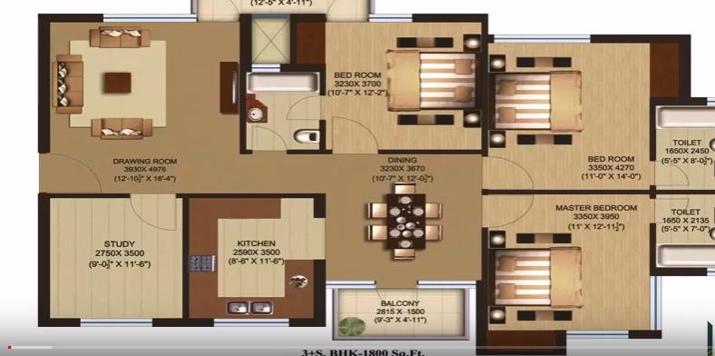 1800 square feet modern home plan