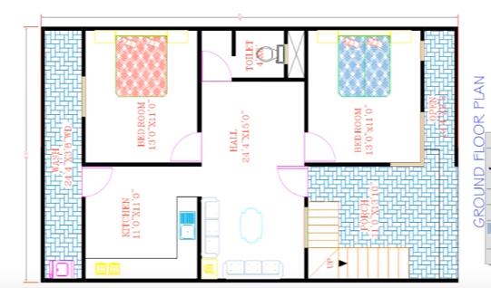 3BHK Modern home plan