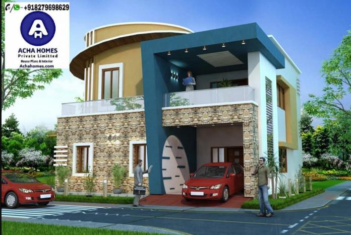 2600 sqft amazing blue colour home design