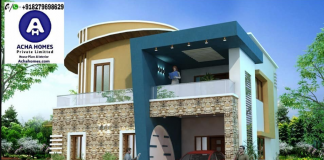 2600 sqft amazing blue colour home design