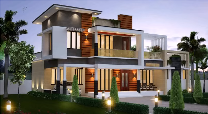 3000 sqft duplex home plan