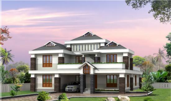 3500 sqft stylish home design