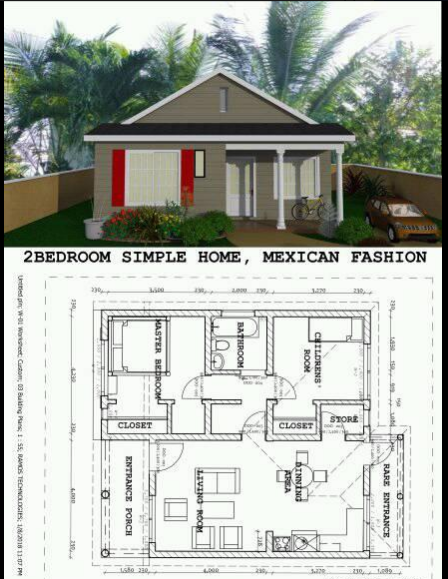 500 SQUARE FEET SIMPLE HOME PLAN