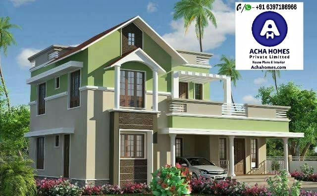 List of 1500 to 2000 sq. ft stylish home design with 4bedrooms