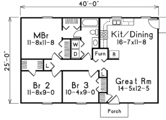 List of houses of 500 sq. Feet to 1000 sq. Feet Modern House Plan
