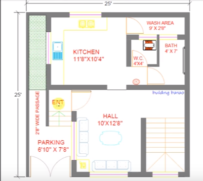 25 feet by 25 feet wonderfull home plan