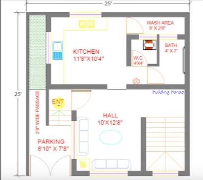 25 feet by 25 feet wonderfull home plan
