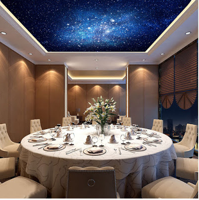 dining roomCeiling Mural Home Design Ideas